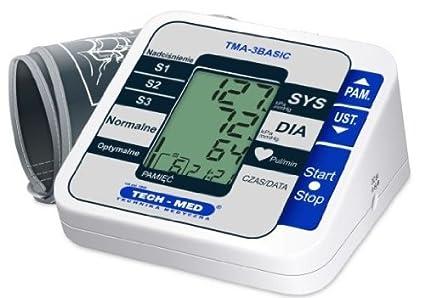 Tech-Med TMA-3Basic preciso Digital tensiómetro de brazo Auto Health Control de cuadros