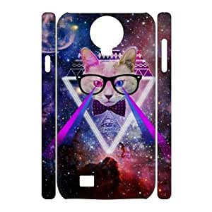 Galaxy Hipster Cat DIY 3D Cover Case for SamSung Galaxy S4 I9500,personalized phone case ygtg551585 by icecream design