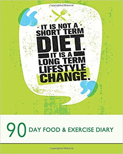 It is not a short term diet - It is a long term lifestyle change: 90 Day Food & Exercise Diary