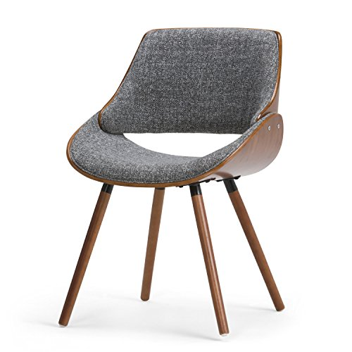 Simpli Home AXCMALW-G Lowell Bentwood Dining Chair, Charcoal Grey