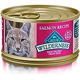BLUE Wilderness Adult Grain Free Salmon Pate Wet Cat Food 3-oz (pack of 24)