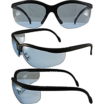 BLUE MOON SAFETY GLASSES SUNGLASSES GLOBAL VISION SMOKE LENS ANSI Z87.1+