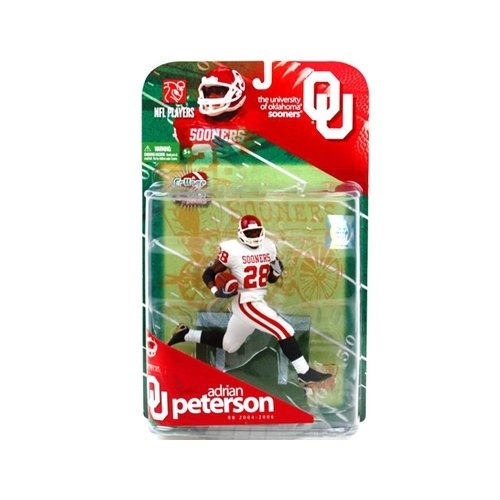 Ncaa College Series Football (McFarlane Sportspicks: NCAA Football Series 1 Adrian Peterson (Oklahoma Sooners, White Jersey Variant) Action Figure)