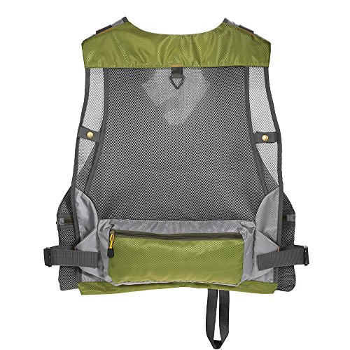 Isafish fly fishing mesh vest pack for anglers outdoor for Fly fishing backpack
