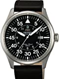 Orient 21-Jewel Automatic Aviator Flight Watch with Black Leather Strap ER2A003B, Watch Central