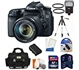 Canon EOS 70D DSLR Camera with 18-135mm STM f/3.5-5.6 Lens + High Speed 128 GB Memory Card + Camera Flash + Camera Bag + Lens Filters + Tripod and more...