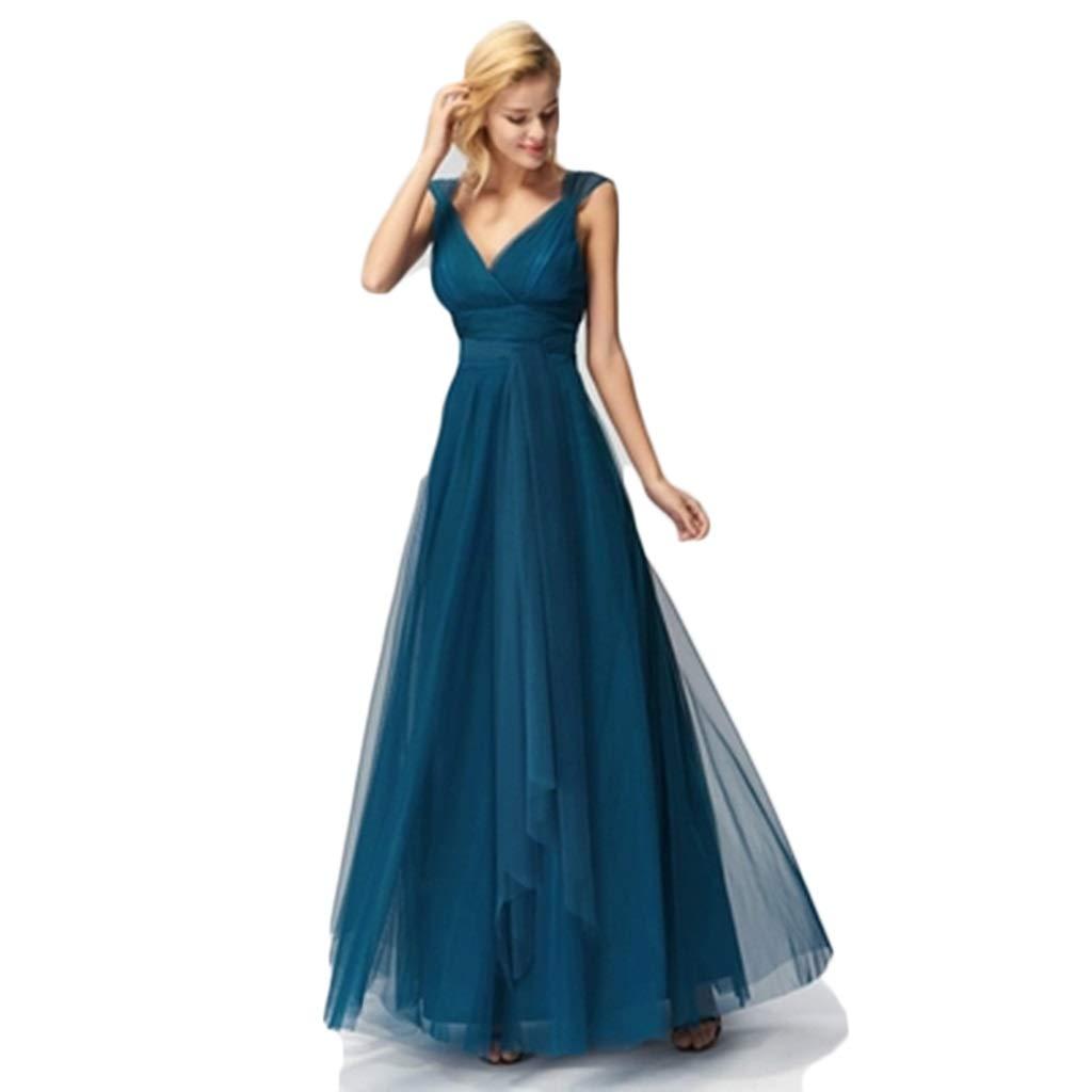 bluee Dresses Dress Summer Waist Long Skirt Bridesmaid Dress Long Large Size Evening Dress VNeck Sling Waist Skirt Dress Gift (color   Red, Size   XXXXL)