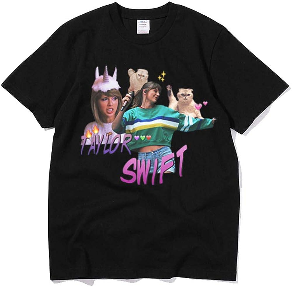 XXW Taylor Swift Theme Camiseta Ropa del Mismo Estilo Marea De Manga Corta De Algodón Rosa: Amazon.es: Ropa y accesorios