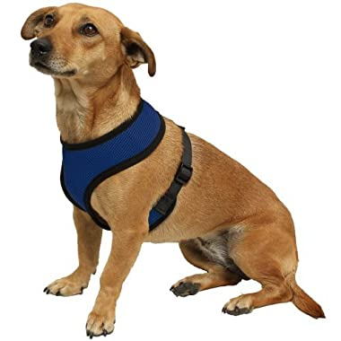 OxGord Pet Control Harness for Dog & Cat Easy Soft Walking Collar, Small, Blue