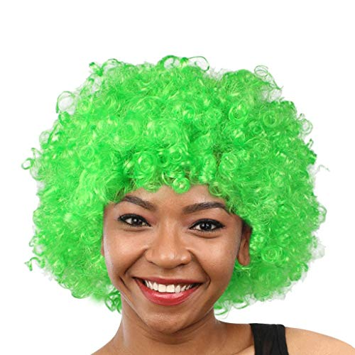 Tigivemen wigs Clown Wig, Funny Wig, Funny Afro Clown Hair Football Afro Hair Wig Cosplay -