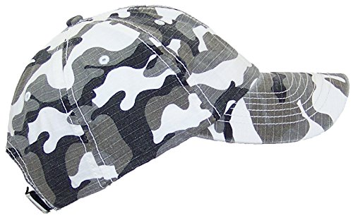 (Mega Cap MG Unisex Unstructured Ripstop Camouflage Adjustable Ballcap - City Camo)