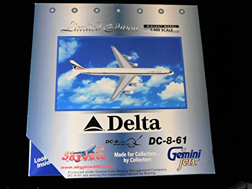 - Delta Airlines Douglas DC-8-61 1:400 Scale Limited Edition Die-cast Plane Made by Gemini jets