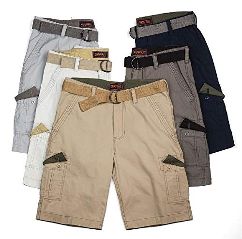 Wearfirst Men's Caution Ripstop Belted Legacy Cargo Short, Chino, 40 ()
