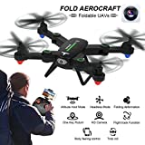 2.4G 4CH Altitude Hold 0.3MP HD Camera WIFI FPV RC Quadcopter Drone Selfie Foldable Practical Dreamyth (Black)