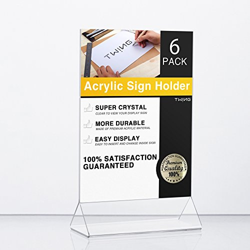 Plastic Display Upright 6 Pack Acrylic product image