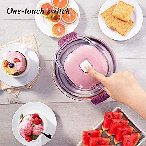 NLRHH Accueil Ice Cream Maker Toppings, Soft Serve Ice Cream Machine Portable for Enfants, Petit électrique Machine à glaçons Machine de comptoir Rose Peng