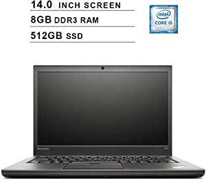 Lenovo Thinkpad T440S 14 Inch Premium Business Laptop (Intel Dual Core i5-4300U up to 2.9GHz, 8GB DDR3 RAM, 512GB SSD, Intel HD 4400, WiFi, Windows 10 Pro) (Renewed)