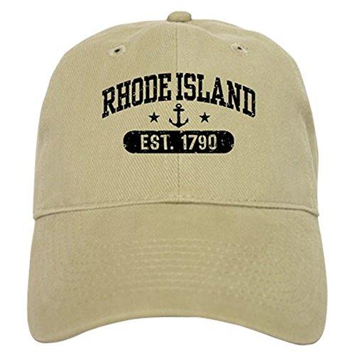 CafePress Rhode Island Baseball Cap with Adjustable Closure, Unique Printed Baseball Hat Khaki ()