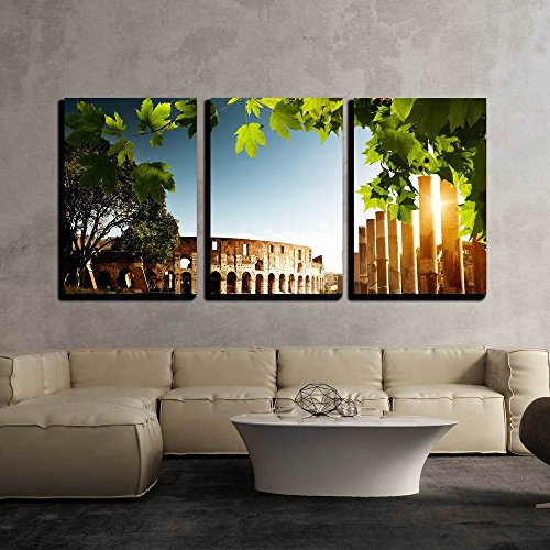 Colosseum in Rome Italy x3 Panels