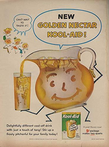New Golden Nectar Kool-Aid! Ad 1957 L