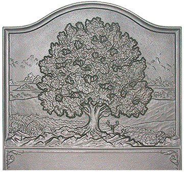 28'' x 26'' Large Oak Fireback by Pennsylvania Firebacks