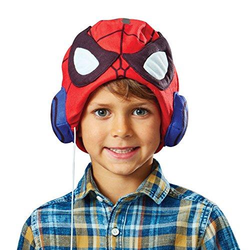 Marvel Spider-Man Headphone Hat - Child Safe Kids Headphones