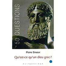 Qu'est-ce qu'un dieu grec?