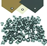 Mil-Spec Kydex Eyelets GS 8-8, Brass Black Oxide 1/4'' DIY Gun Holster Knife Sheath Grommets (500)