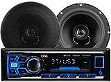 BOSS Audio 638BCK Single Din, Bluetooth, MP3/USB/SD AM/FM Car Stereo, 6.5 Inch 2 Way Full Range Speaker Package