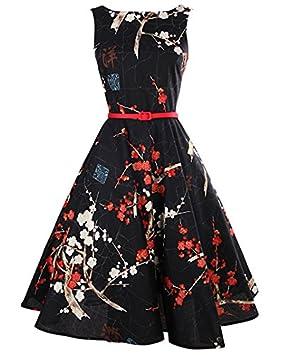 JIALELE Vestido Fiesta Mujer,De Fiesta,Vestidos Para Mujer Camiseta Sin Mangas Vestido Negro