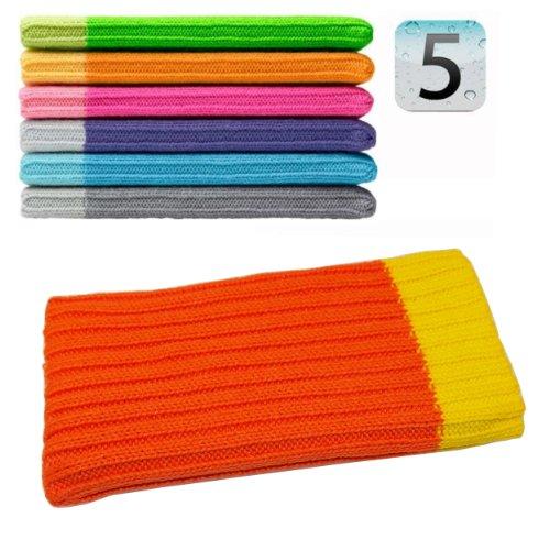 Original smartec24® iPhone 5 Socke Handysocke Stricksocke orange. 100% passgenau für Ihr iPhone 5. Auch passend für alle älteren iPhone Modelle!
