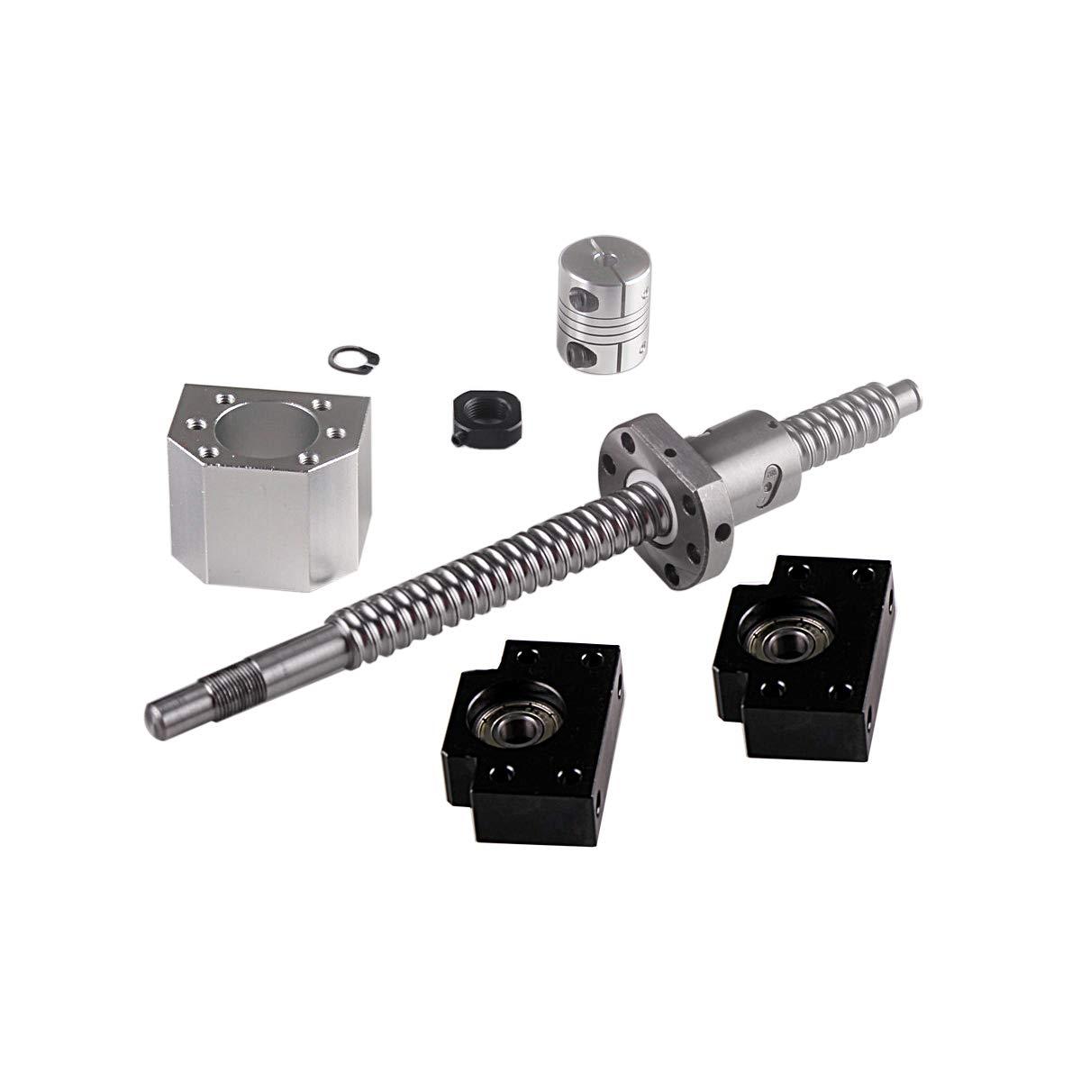 BallScrew 1605-700mm End Machine CNC Couplers with Ballnut Housing /& BK//BF12