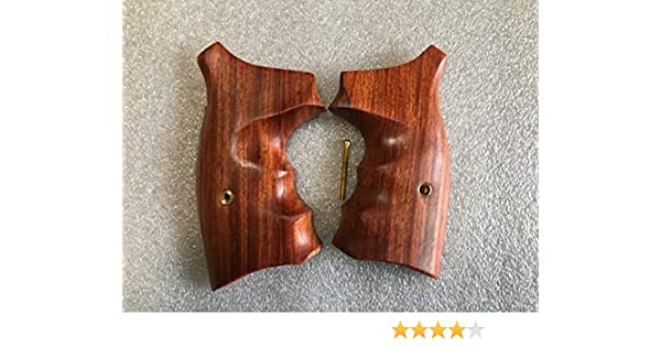 Gorgeous Opened Back Grip For S/&W K//L Frame Square Butt Checkered Hardwood New