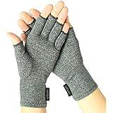 Arthritis Gloves by Vive - Compression Gloves for Rheumatoid & Osteoarthritis - Hand Gloves Provide Arthritic Joint Pain Symptom Relief - Men & Women - Open Finger (Medium)