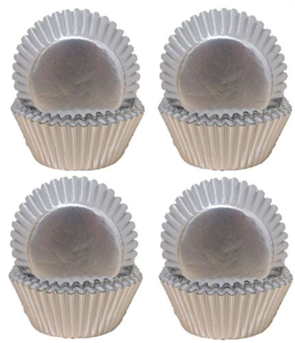Premium Disposables 400 Silver Foil Cupcake Paper Baking Cups Metallic Muffin Liners Standard Size Cupcake Bakeware Supplies. by Premium Disposables (Image #7)
