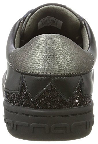 Femme Fornarina B00 Andromeda Noir gunmetal Baskets black q0UZE07w