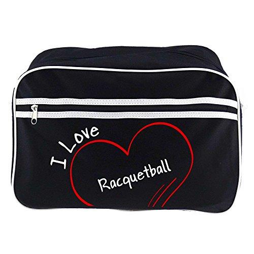 Bandolera Negro Bolso Diseño I Love Racquetball Colour De x7wE0qZ