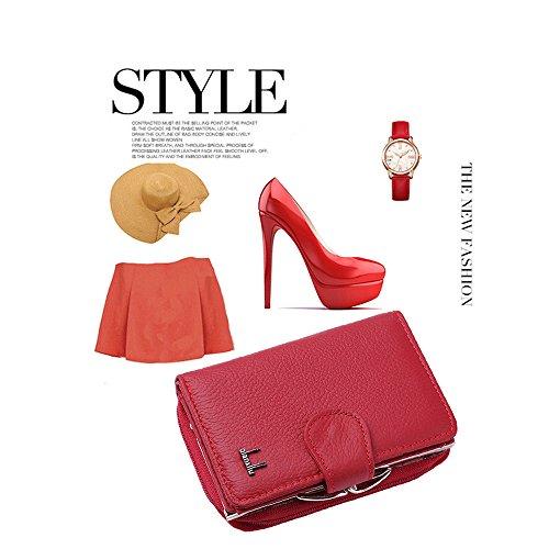 Zipper Red Monnaie Sac Femmes d'embrayage Lady Red Pliable pour rabbit à Court Lovely Petit Main Carte Sac Porte Color 48qfwHAfU