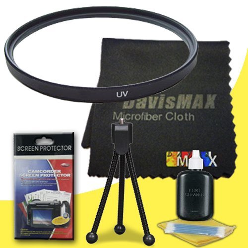 67mm UV Filter for Sony a7R with Sony 18-200 f/3.5-6.3 Telephoto Lens + DavisMAX Fibercloth Deluxe Filter Bundle (18200 E Mount)