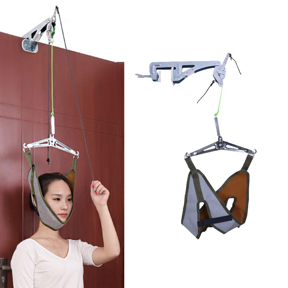 Details about NEPPT Neck Cervical Traction Device Unit Kit Home Over Door  Neck Spinal Devices