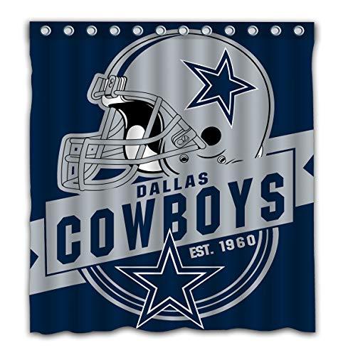 Dallas Shower Curtain - Felikey Custom Dallas Cowboys Waterproof Shower Curtain Colorful Bathroom Decor Size 66x72 Inches