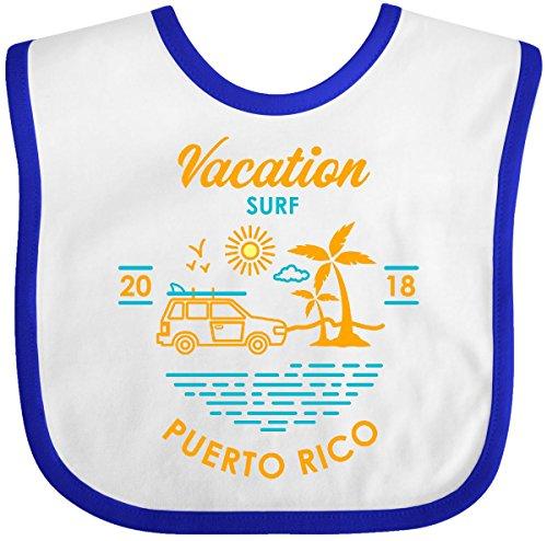 Inktastic - 2018 Vacation Surf Puerto Rico Baby Bib White/Royal 30a58