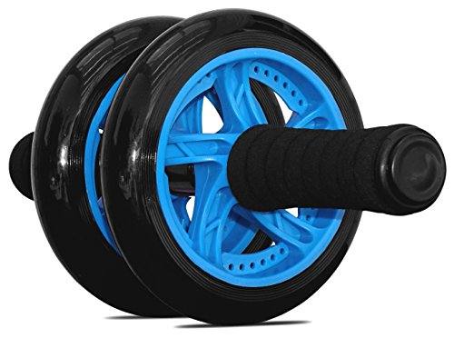 Maximiza Ab Roller Wheel by Garren Fitness - This Abs Roller comes with a Knee Pad and Dual Wheels for Added Stability and Comfort, and is the Ab Wheel for a Perfect Core Workout