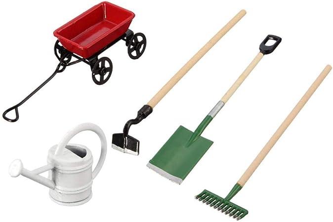 3Pcs //Lot 1:12 Dollhouse Miniature Furniture Gardening Shovel Tools Type Ne E8Q5