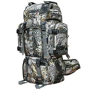KYFW Camping De Deportes Al Aire Libre Gran Capacidad Impermeable Multi-funcional Mochila,33*20*61cm-Camouflage-20-35L