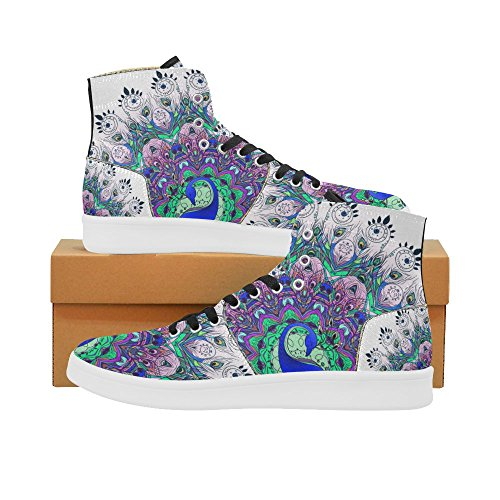 D-story Scarpe Personalizzate Grunge Usa Bandiera High Top Retro Donna Sneaker Multicoloured11