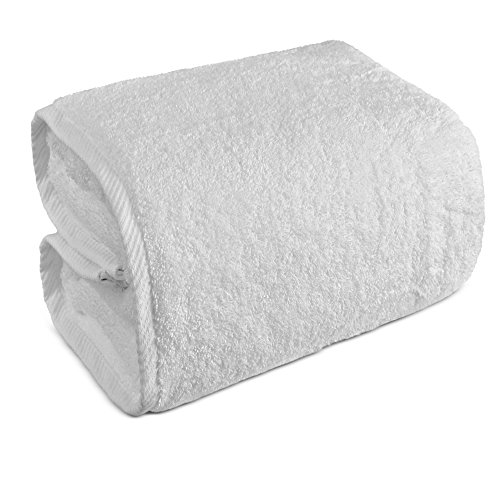 Indulge Linen Oversized Bath Sheet, 100% Turkish Cotton, White (40x80 inches)