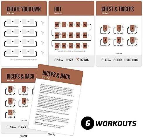 Barbell Exercise Cards by Newme Fitness - Contains 50 Weightlifting Exercises - Total Body Workout