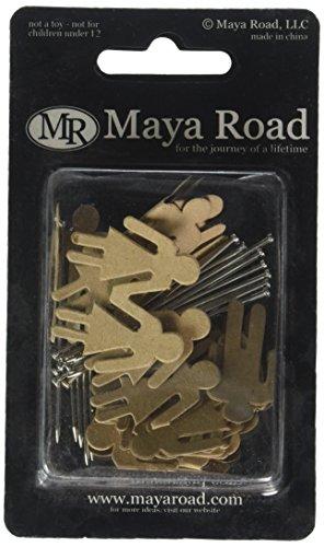 Maya Road Trinket Pins - Vintage Trinket Pins 20/Pkg-Kraft Boys & Girls