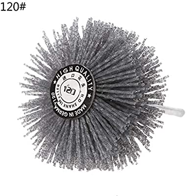 YUNAWU Deburring Abrasive Steel Wire Brush Head Polishing Grinding Wheel 120